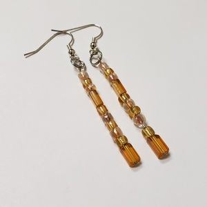 Handmade Earrings | Brown Beads